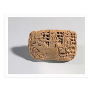 Tablet with pictographic inscription, Protoliterat Postcard