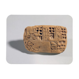Tablet with pictographic inscription, Protoliterat Vinyl Magnets