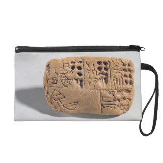 Tablet with pictographic inscription, Protoliterat Wristlet Purse