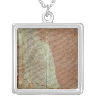 Tablet with the history of King Sargon II Square Pendant Necklace