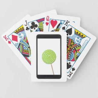 Tableta androide con el lollipop cartas de juego