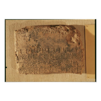 Tableta astrológica, de Uruk Poster