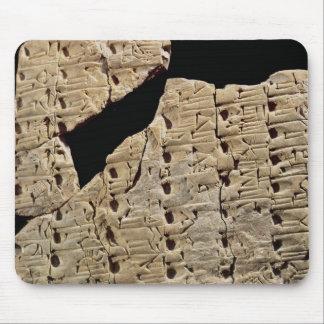 Tableta con la escritura cuneiforme, de Uruk Alfombrilla De Ratón