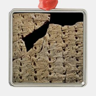 Tableta con la escritura cuneiforme, de Uruk Adornos