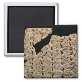 Tableta con la escritura cuneiforme, de Uruk Imán Cuadrado