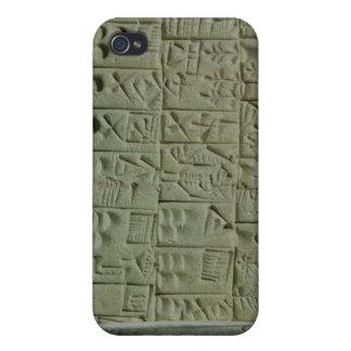 Tableta con la escritura cuneiforme iPhone 4 cárcasa