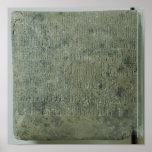 Tableta con la escritura cuneiforme impresiones