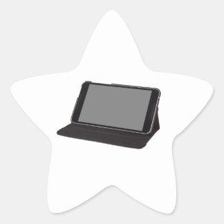 tableta de 8 pulgadas en un soporte pegatina en forma de estrella