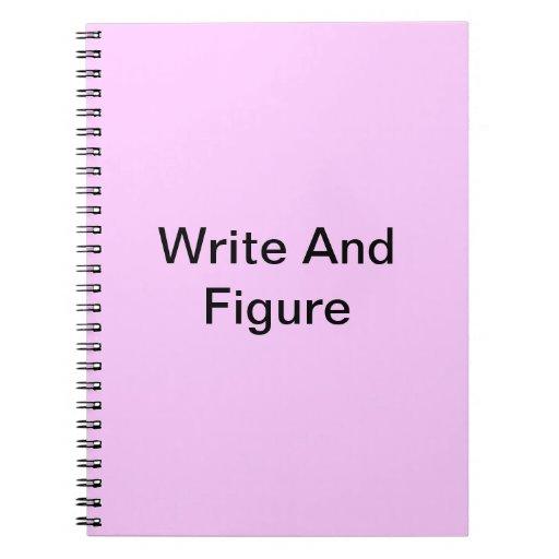 Tableta de la escritura libros de apuntes con espiral