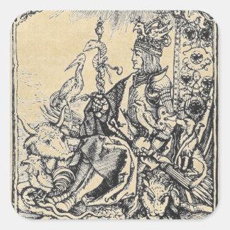 Tableta del emperador Maximiliano Pegatina Cuadrada