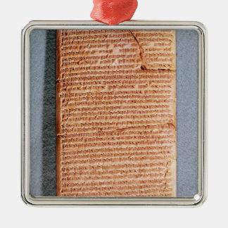 Tableta que relaciona los sacrificios del ritual ornato