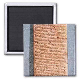 Tableta que relaciona los sacrificios del ritual imán cuadrado