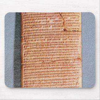 Tableta que relaciona los sacrificios del ritual mousepad