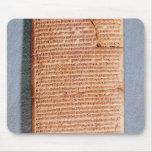 Tableta que relaciona los sacrificios del ritual tapete de ratones