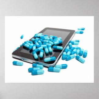 Tableta y píldoras póster
