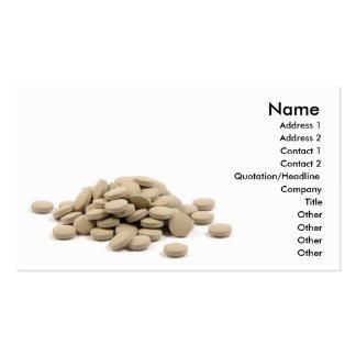 Tabletas medicinales tarjetas de visita