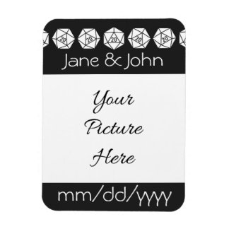 Tabletop Chic in Black Save-the-Date Magnet