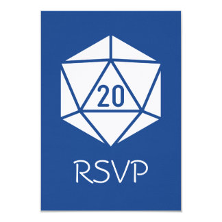 Tabletop Chic in Blue RSVP Card