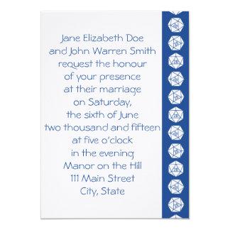 Tabletop Chic in Blue Wedding Invitation