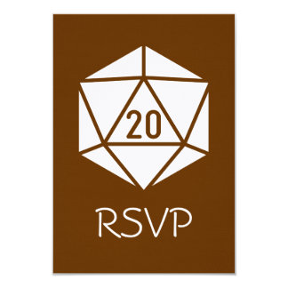 Tabletop Chic in Chocolate RSVP Card