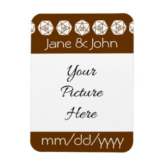 Tabletop Chic in Chocolate Save-the-Date Magnet