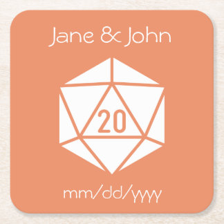 Tabletop Chic in Coral Paper Coaster
