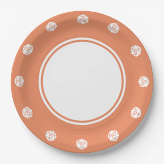 Tabletop Chic in Coral Paper Plate