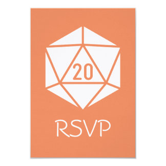 Tabletop Chic in Coral RSVP Card