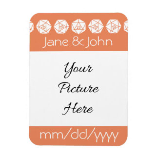 Tabletop Chic in Coral Save-the-Date Magnet