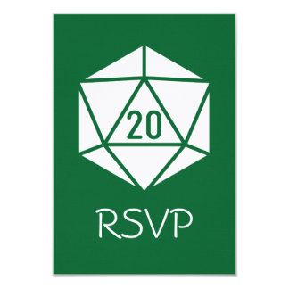 Tabletop Chic in Green RSVP Card