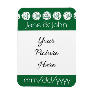 Tabletop Chic in Green Save-the-Date Magnet