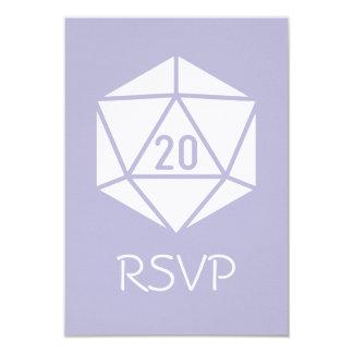 Tabletop Chic in Lavender RSVP Card