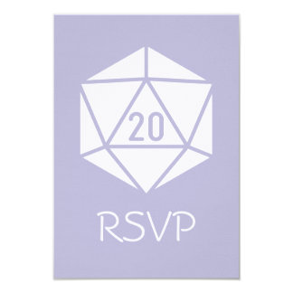 Tabletop Chic in Lavender RSVP Card