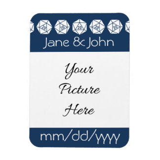 Tabletop Chic in Navy Save-the-Date Magnet
