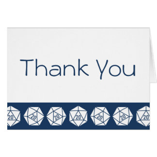 Tabletop Chic in Navy Thank You Card