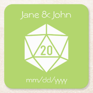 Tabletop Chic in Peridot Paper Coaster