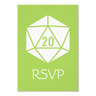 Tabletop Chic in Peridot RSVP Card