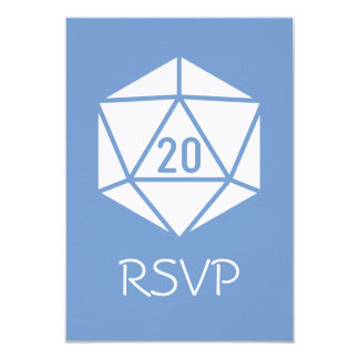 Tabletop Chic in Periwinkle RSVP Card