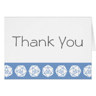 Tabletop Chic in Periwinkle Thank You Card