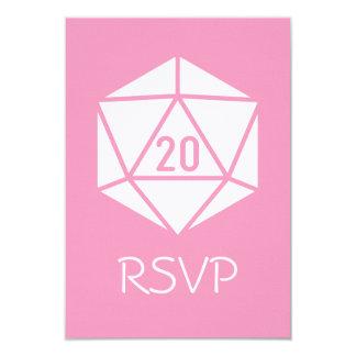Tabletop Chic in Petal Pink RSVP Card