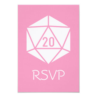 Tabletop Chic in Petal Pink RSVP Card