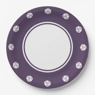 Tabletop Chic in Purple Paper Plate