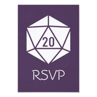 Tabletop Chic in Purple RSVP Card