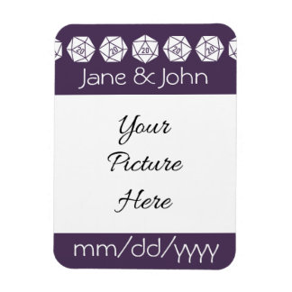 Tabletop Chic in Purple Save-the-Date Magnet