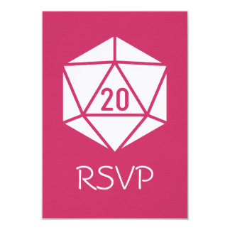 Tabletop Chic in Raspberry RSVP Card