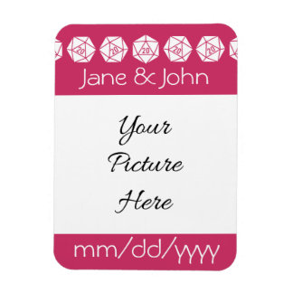 Tabletop Chic in Raspberry Save-the-Date Magnet