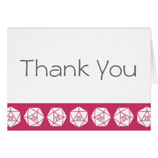 Tabletop Chic in Raspberry Thank You Card