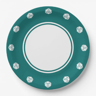 Tabletop Chic in Teal Paper Plate