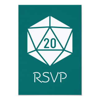 Tabletop Chic in Teal RSVP Card