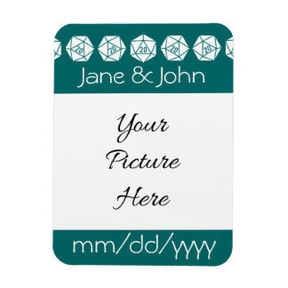 Tabletop Chic in Teal Save-the-Date Magnet